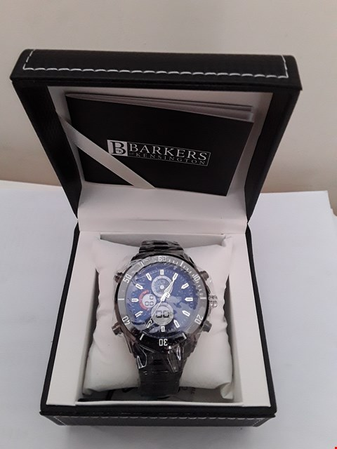 Lot 2076 BRAND NEW DESIGNER BARKERS OF KENSINGTON PREMIER SPORTS BLUE GENTS WRISTWATCH