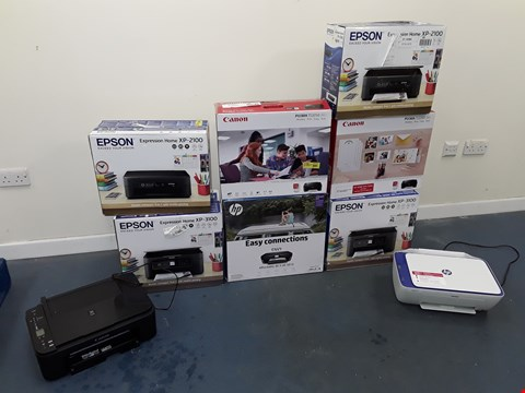 Lot 7100 LOT OF APPROXIMATELY 9 ASSORTED PRINTERS TO INCLUDE EPSON, CANON, HP