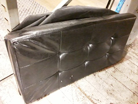 Lot 362 BLACK  FAUX LEATHER FOLDABLE STORAGE SEAT