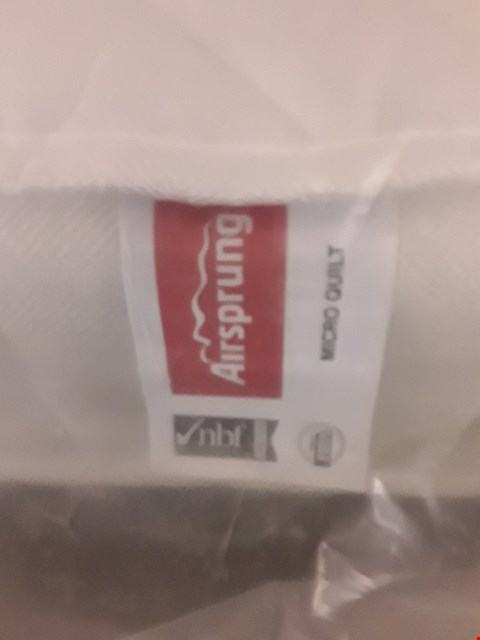Lot 315 DESIGNER BAGGED 135CM AIRSPRUNG MICRO QUILT MATTRESS