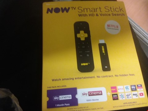 Lot 7151 NOW TV SMART STICK WITH HD AND VOICE SEARCH RRP £25