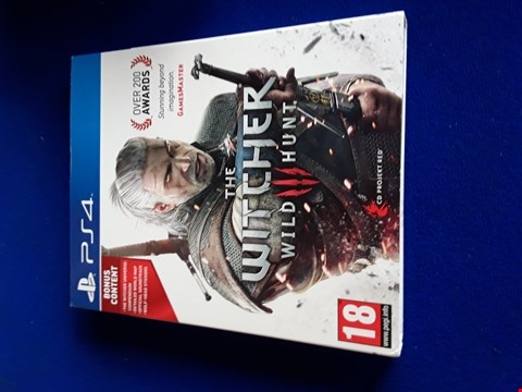 Lot 7655 THE WITCHER 3: WILD HUNT PLAYSTATION 4 GAME