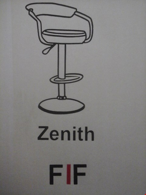Lot 6032 FURNITURE IN FASHION 2 ZENITH GAS BAR STOOLS IN BLACK ( 1 BOX )