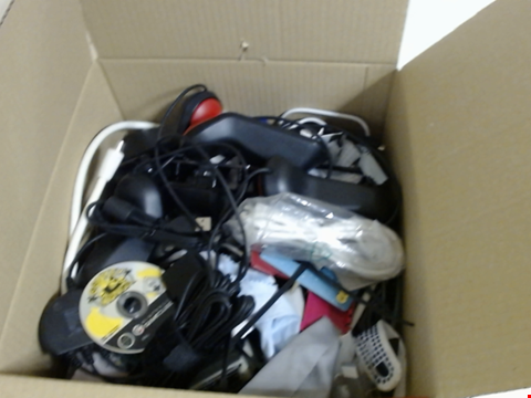 Lot 7758 QUANTITY OF ASSORTED GAMING CABLES AND ACCESSORIES 30 X 30 X 30CM BOX