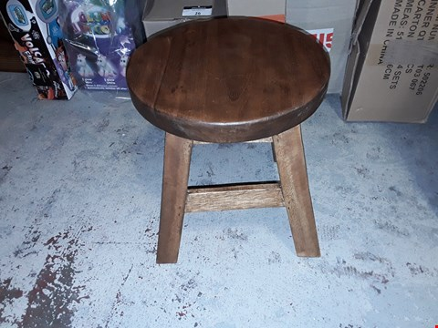 Lot 30 CHILDREN'S WOODEN STOOL