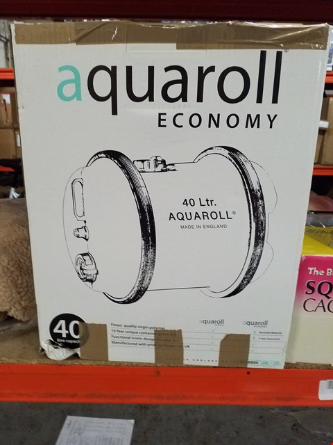 Lot 14009 BOXED AQUAROLL 40 LITRE WATER BARREL