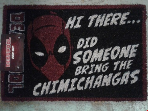 Lot 758 BRAND NEW DEADPOOL DOOR MAT