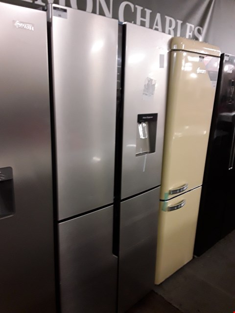 Lot 66 HISENSE STAINLESS STEEL FRENCH STYLE FRIDGE FREEZER - 79.4 CM - 431 LITRE RQ560N4WC1 RRP £679.00