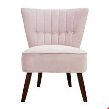 Lot 7068 BOXED ISLA BLUSH PINK VELVET CHAIR