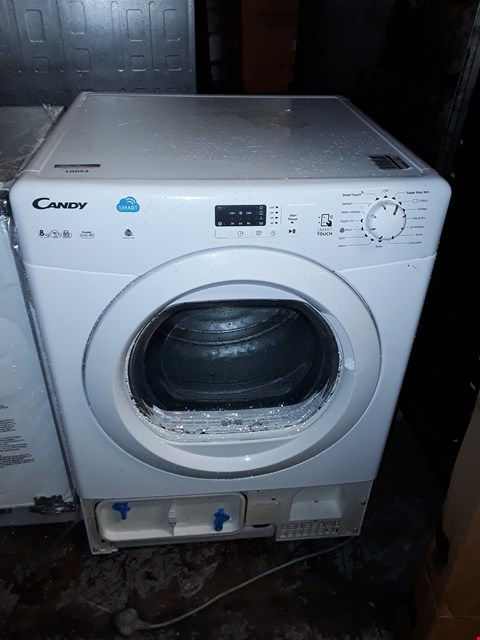 Lot 10052 CANDY SMART TOUCH 8KG CONDENSER DRYER IN WHITE