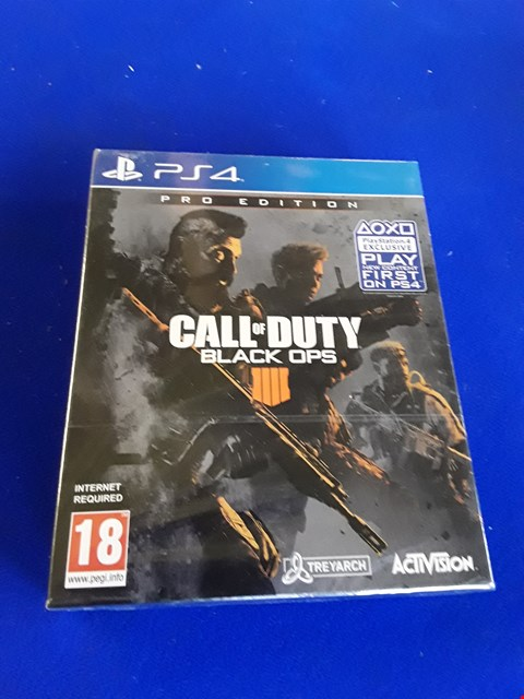 Lot 7625 CALL OF DUTY: BLACK OPS IIII PRO EDITION PLAYSTATION 4 GAME