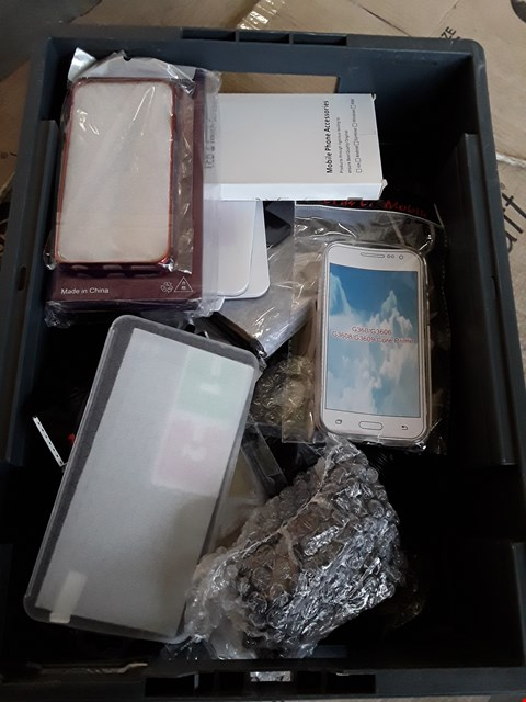 Lot 2245 TRAY OF ASSORTED PHONE COVERS, CHARGERS/ POWER ADAPTERS, ( TRAY NOT INCLUDED)