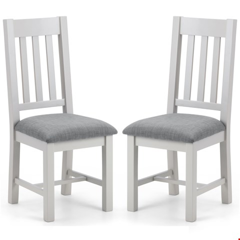Lot 7126 BOXED PAIR GRADE 1 RICHMOND DINING CHAIRS - ELEPHANT GREY