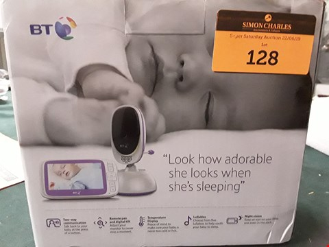 Lot 128 BT VIDEO BABY MONITOR 6000 RRP £165.00