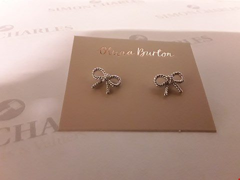 Lot 77 OLIVIA BURTON SILVER PLATED VINTAGE BOW EARRINGS  RRP £44.00