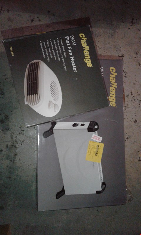 Lot 1 CHALLENGE 2KW FLAT FAN HEATER AND 2KW CONVECTOR HEATER