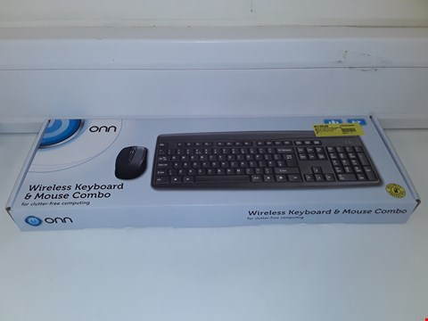 Lot 15 ONN WIRELESS KEYBOARD AND MOUSE COMBO