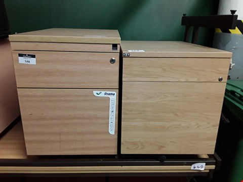 Lot 263 LOT OF 2 WOODEN 2 DRAWER FILLING CABINETS