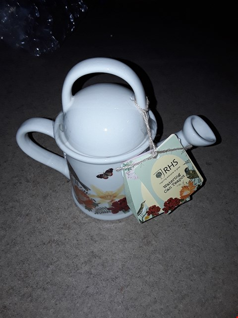 Lot 4389 RHS WATERING CAN TEAPOT GIFT SET RRP £25.00