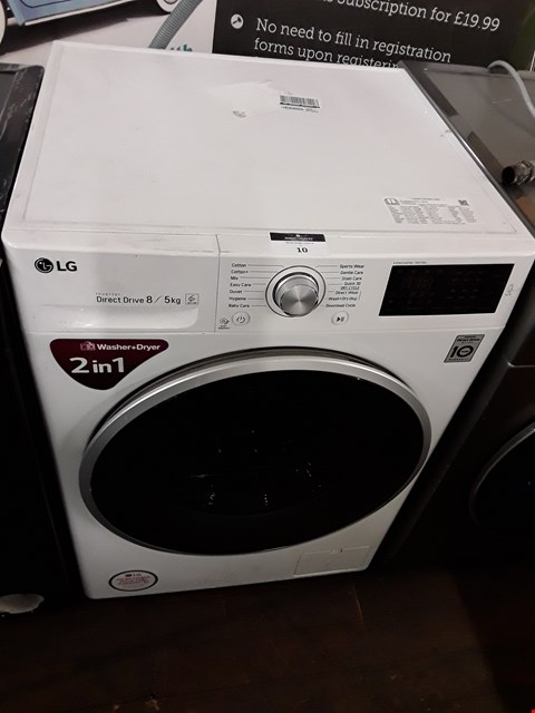 Lot 10 LG F4J6TM1W 8KG/5KG 1400 SPIN WASHER DRYER RRP £710.00