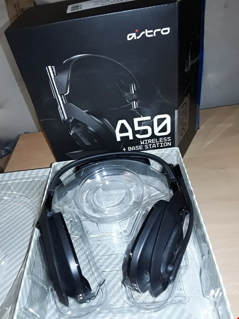 Lot 597 ASTRO GAMING A50 WIRELESS HEADSET + BASE STATION GENERATION 4 WITH DOLBY AUDIO, COMPATIBLE WITH PS4, PC, MAC - BLACK/SILVER