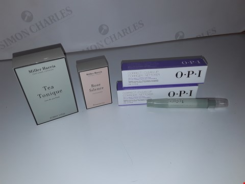 Lot 5201 LOT OF 5 ASSORTED COSMETICS ITEMS TO INCLUDE MILLER HARRIS TEA TONIQUE EAU DE PARFUM 50ML, O.P.I NAIL CLEAN UP PEN