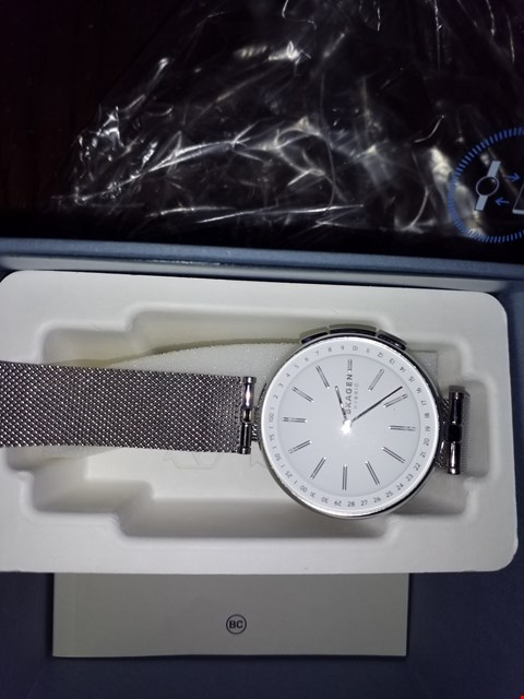 Lot 9270 SKAGEN CONNECTED SIGNATUR SILVER HYBRID SMARTWATCH ON STAINLESS MESH STRAP RRP £249.00