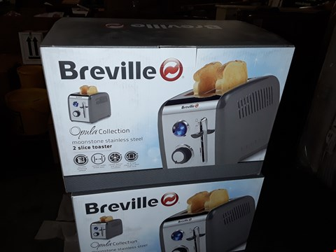 Lot 687 BREVILLE OPULA COLLECTION MOONSTONE STAINLESS STEEL 2 SLICE TOASTER