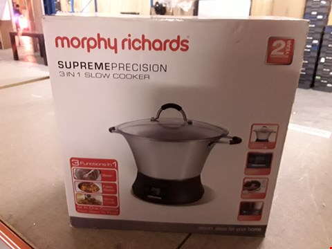Lot 794 MORPHY RICHARDS SUPREME PRECISION 3 IN 1 SLOW COOKER