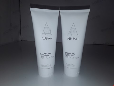 Lot 747 ALPHAH BALANCING CLEANSER WITH ALOE VERA 200ML X2