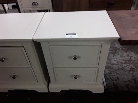 Lot 7057 DESIGNER LIGHT GREY TWO-DRAWER BEDSIDE