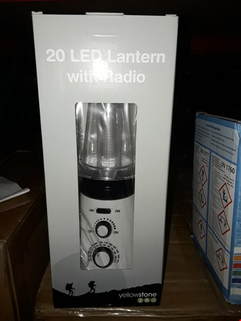 Lot 345 BRAND NEW YELLOWSTONE 20 LED LANTERN WITH RADIO 18  RRP £17.00