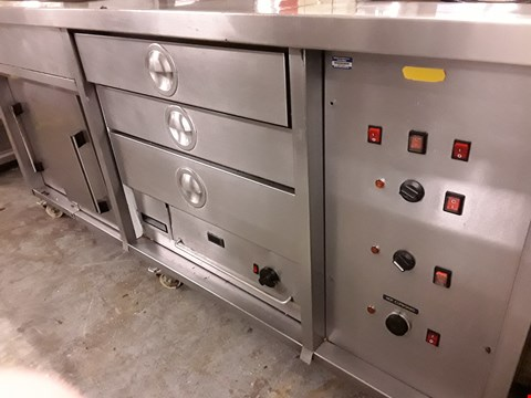 Lot 79 COMMERCIAL HEATED FOOD SERVERY TROLLEY WITH GANTRY TOP