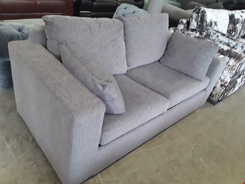 Lot 56 DESIGNER GREY FABRIC METAL ACTION 2 SEATER SOFA BED