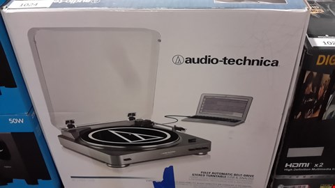 Lot 1024 AUDIO TECHNICA STEREO TURNTABLE AT-LP60-USB