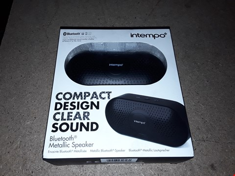 Lot 550 BOX OF 3 ASSORTED INTEMPO BLUETOOTH BLACK METALLIC SPEAKERS