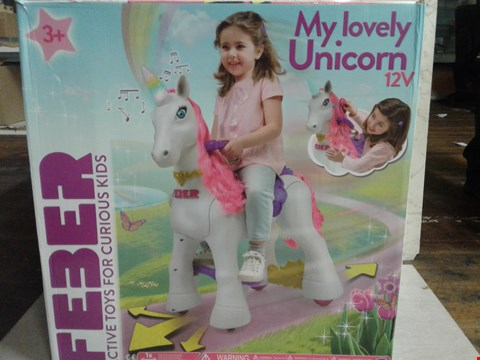 Lot 4079 FEBER MY LOVELY UNICORN 12V RRP £290.00