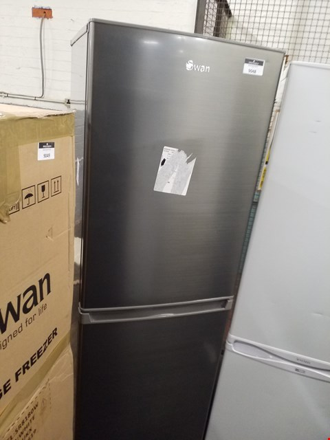 Lot 9048 FREESTANDING GREY SWAN FRIDGE FREEZER