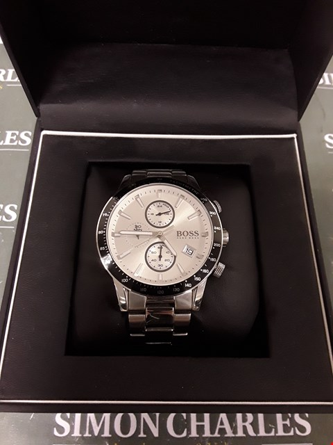 Lot 1222 HUGO BOSS CHRONOGRAPH WATCH WITH STOPWATCH FUNCTION