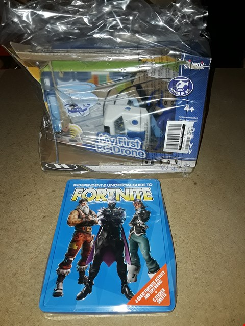 Lot 4381 LOT OF 2 ITEMS TO INCLUDE FORTNITE INDEPENDENT & UNOFFICIAL AND MY FIRST RC DRONE RRP £56.99