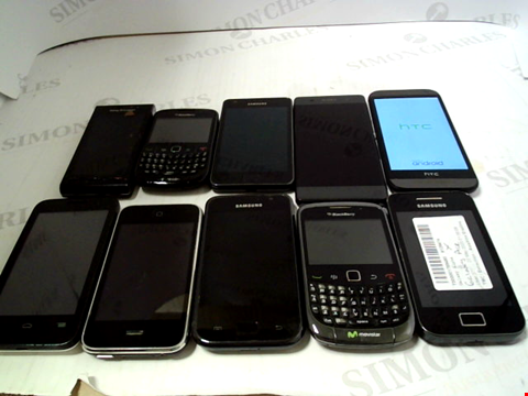 Lot 671 LOT OF APPROXIMATLEY 10 ASSORTED MOBILE PHONES AND SMARTPHONES ETC