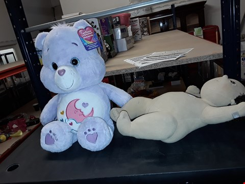 Lot 2101 CAREBEARS CUDDLY BEAR AND RUBENS BARN CUDDLY TOY