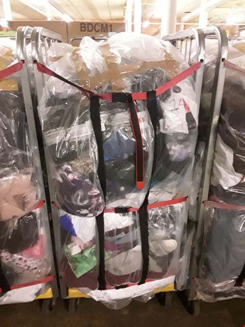 Lot 241 CAGE OF UNPROCESSED ADULT DESIGNER CLOTHING (CAGE NOT INCLUDED)