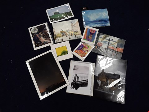 Lot 39 12 ASSORTED ARTWORKS, TO INCLUDE DECLAN SPREDBURY EMBOSSED STONEHENGE PRINT