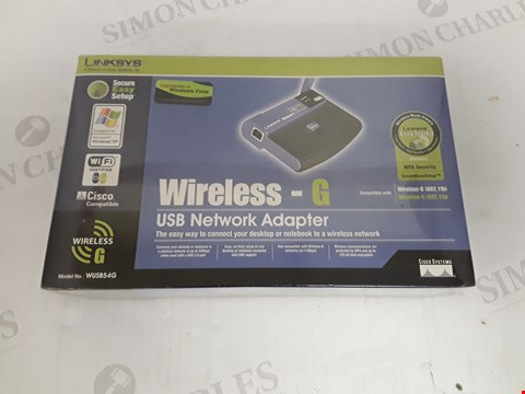 Lot 4131 BOXED SEALED LINKSYS WIRELESS-G USB NETWORK ADAPTER