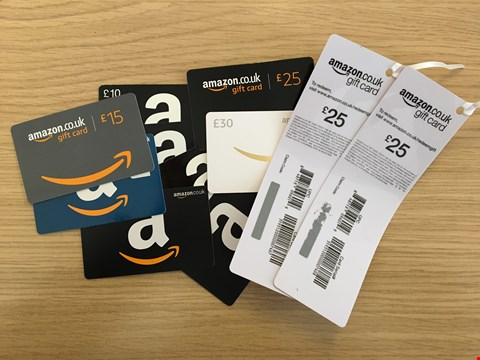 Lot 19 11 AMAZON GIFT CARDS.  TOTAL VALUE £250