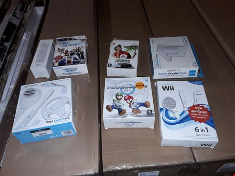 Lot 9092 APPROXIMATELY 7 ASSORTED NINTENDO WII PRODUCTS TO INCLUDE,  WII 6 IN 1 SPORTS PACK AND WE SING UK HITS ETC