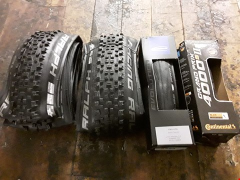 Lot 8483 LOT OF 4 ASSORTED BIKE TYRES TO INCLUDE RALPH, CONTINENTAL AND SCHWALBE