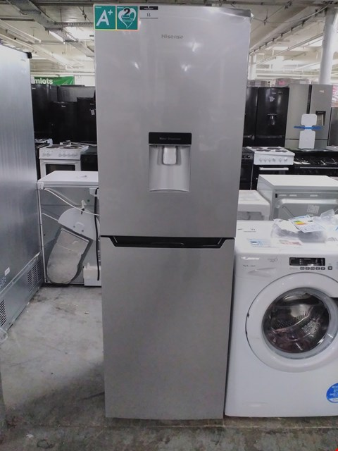 Lot 11 HI SENSE FRIDGE FREEZER WITH WATER DISPENSER - RB320D4WG1