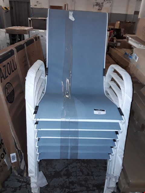 Lot 87 LOT OF 6 JANEIRO ARMCHAIRS QUARRY GREY
